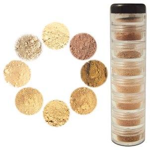 Mineral Makeup Sample Tower -- Light to Medium